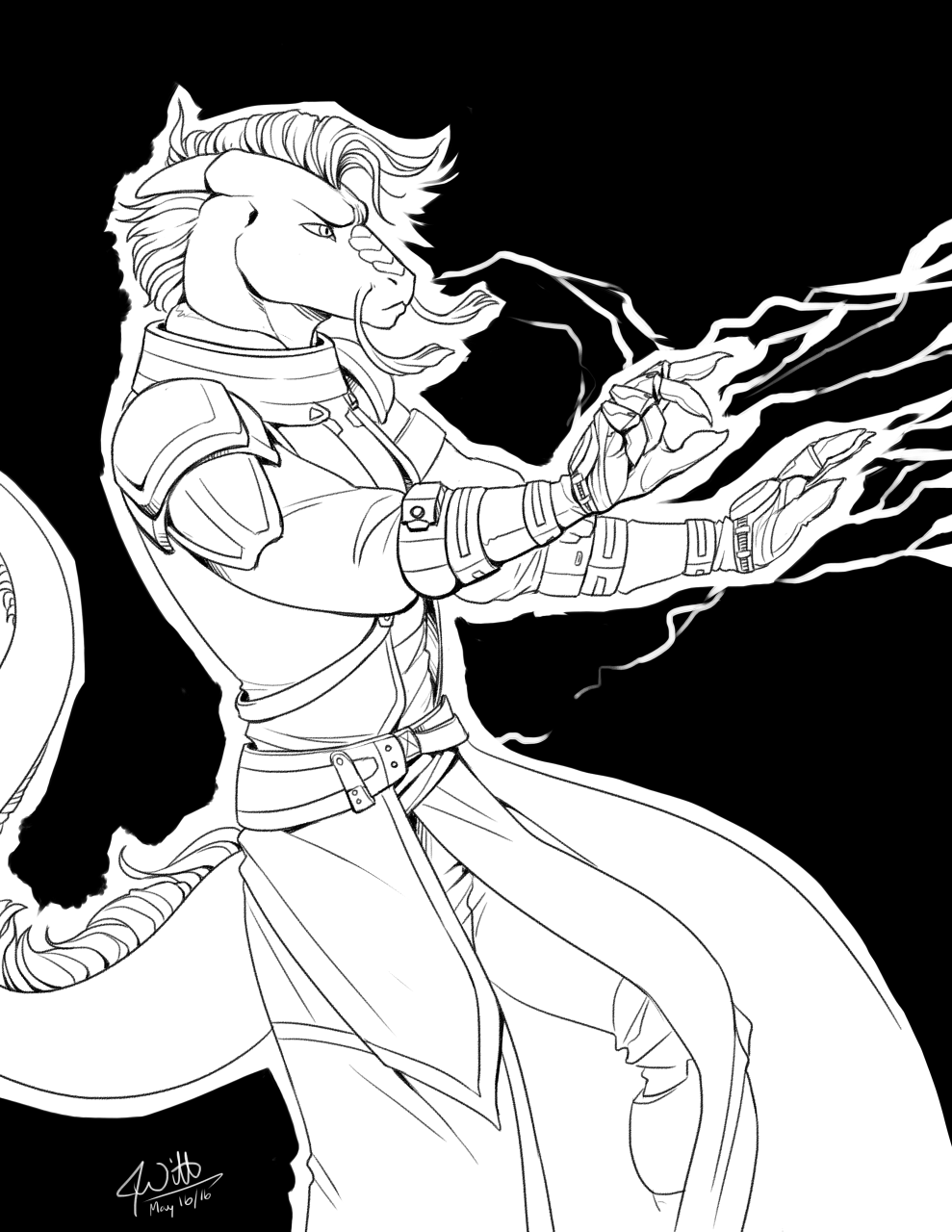 Inked Cosplay - Dev as an Iron Banner Warlock