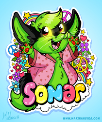 Sonar's Hippie BabyFur Badge - By MarinaNeira