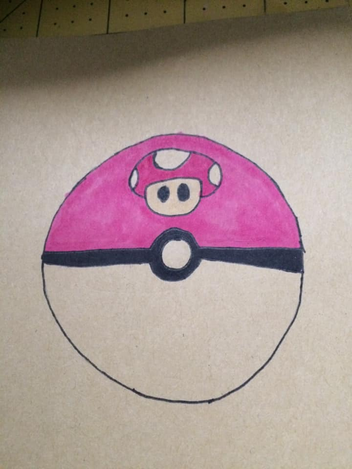 mario mushroom pokeball