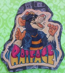 Ratface Bust Badge