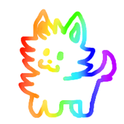 Chibi rainbow animal