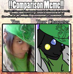 comparison meme: Cody Fox