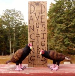 Needle Felted Turkey Vulture Pair