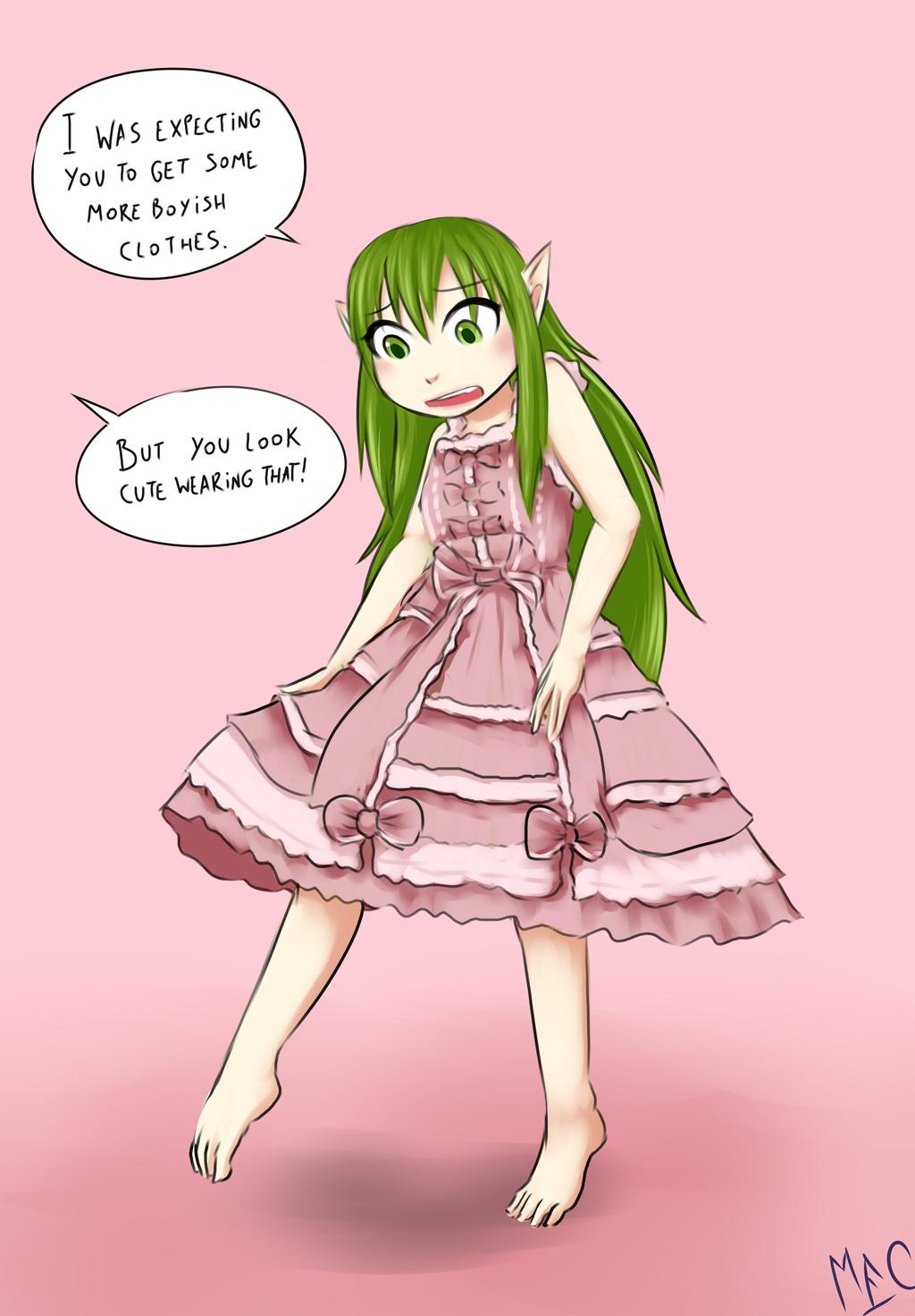 Tiki's New Dress