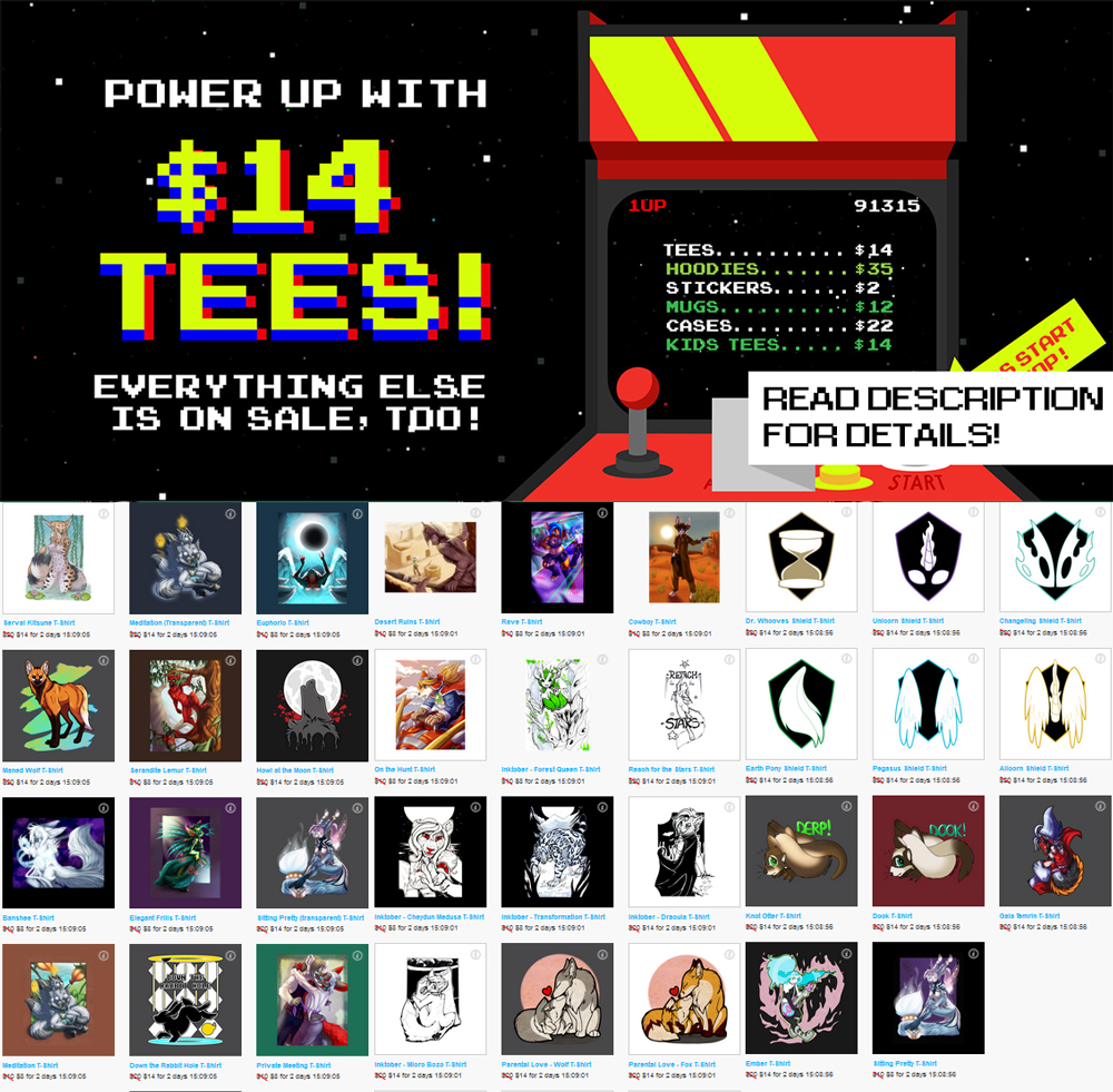 Sitewide TeePublic Sale! 64 hours left!