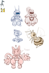 Robot Designs for Potential Video Game