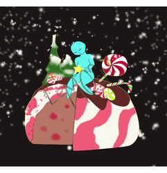 YCH Peppermint Christmas Pudding Food