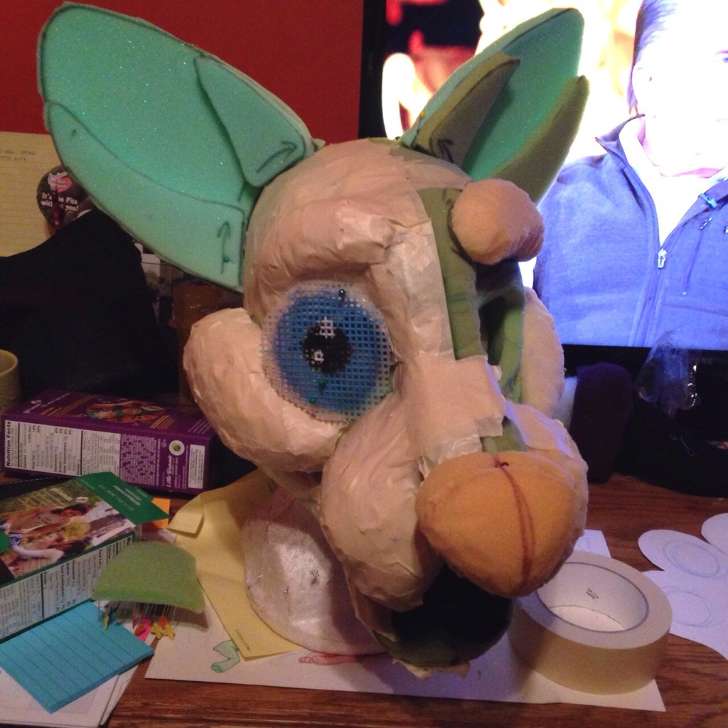 WIP: Curry (foam and tape!)