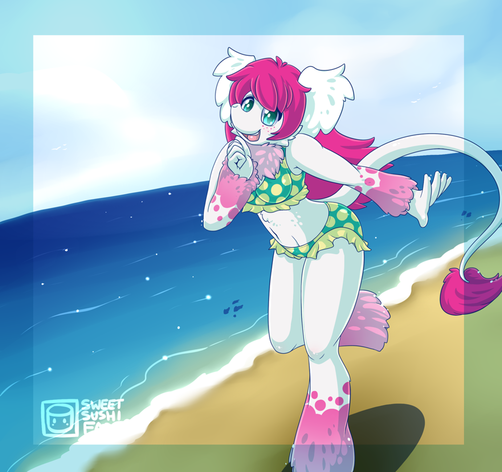 Suu at the beach <3 (draw this again)