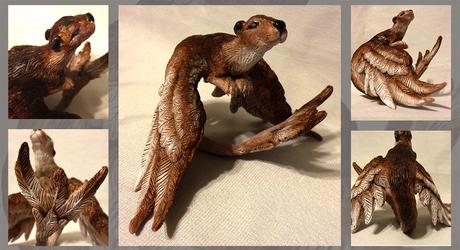 Saen - Winged Otter Sculpture