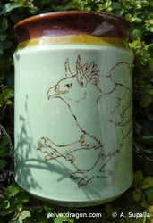 Leaping Gryphon Vase