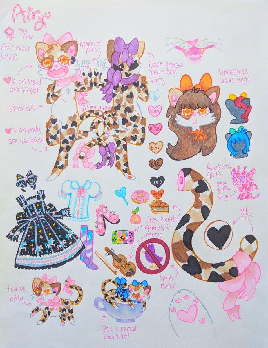 Ref Sheet - Airyu Cat