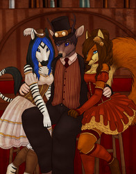 A Gentlebuck and His Saloon Gals