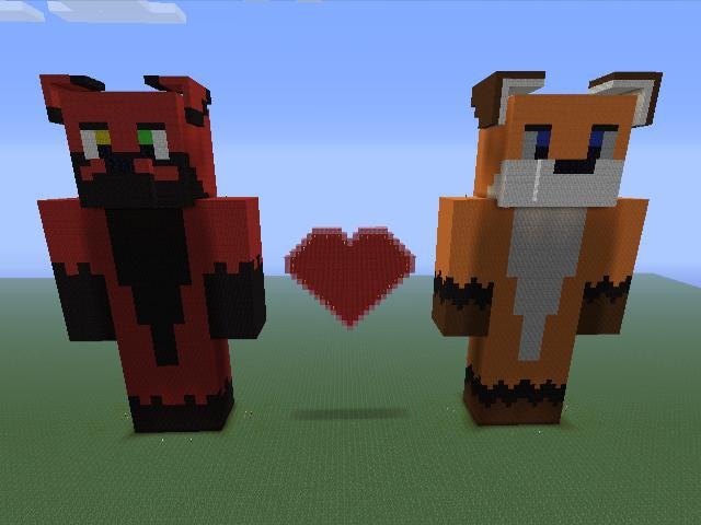 Pixel Wolf and Folf