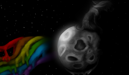 On the dark side of the moon