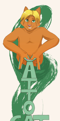Mattocat badge, hand