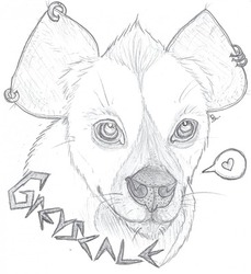 Sketchy Badge - Greyscale