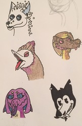 Little Doodles of my characters