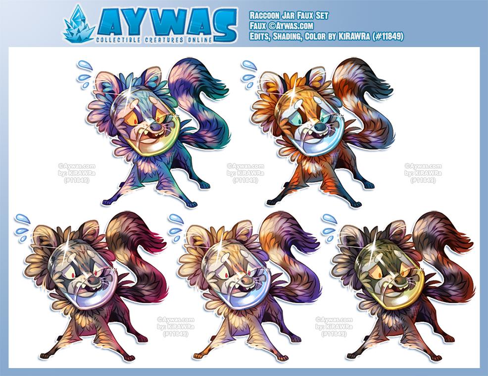 Aywas: Raccoon Jar Faux Set