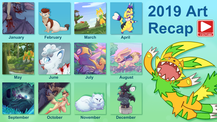 2019 Art Recap [video too]