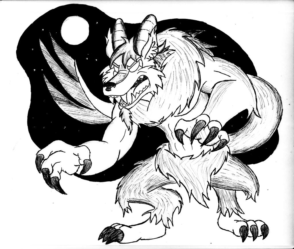 Fur-ktober Day 5 WEREWOLF
