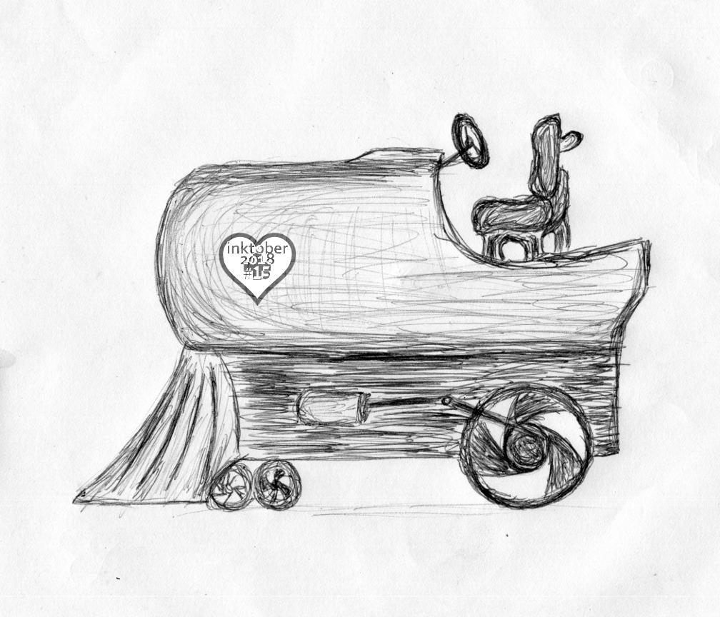 inktober #15: tractor