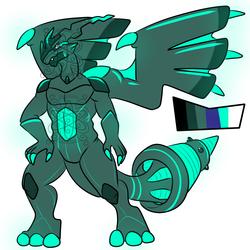 Shiny male Zekrom +Design+ (SOLD)