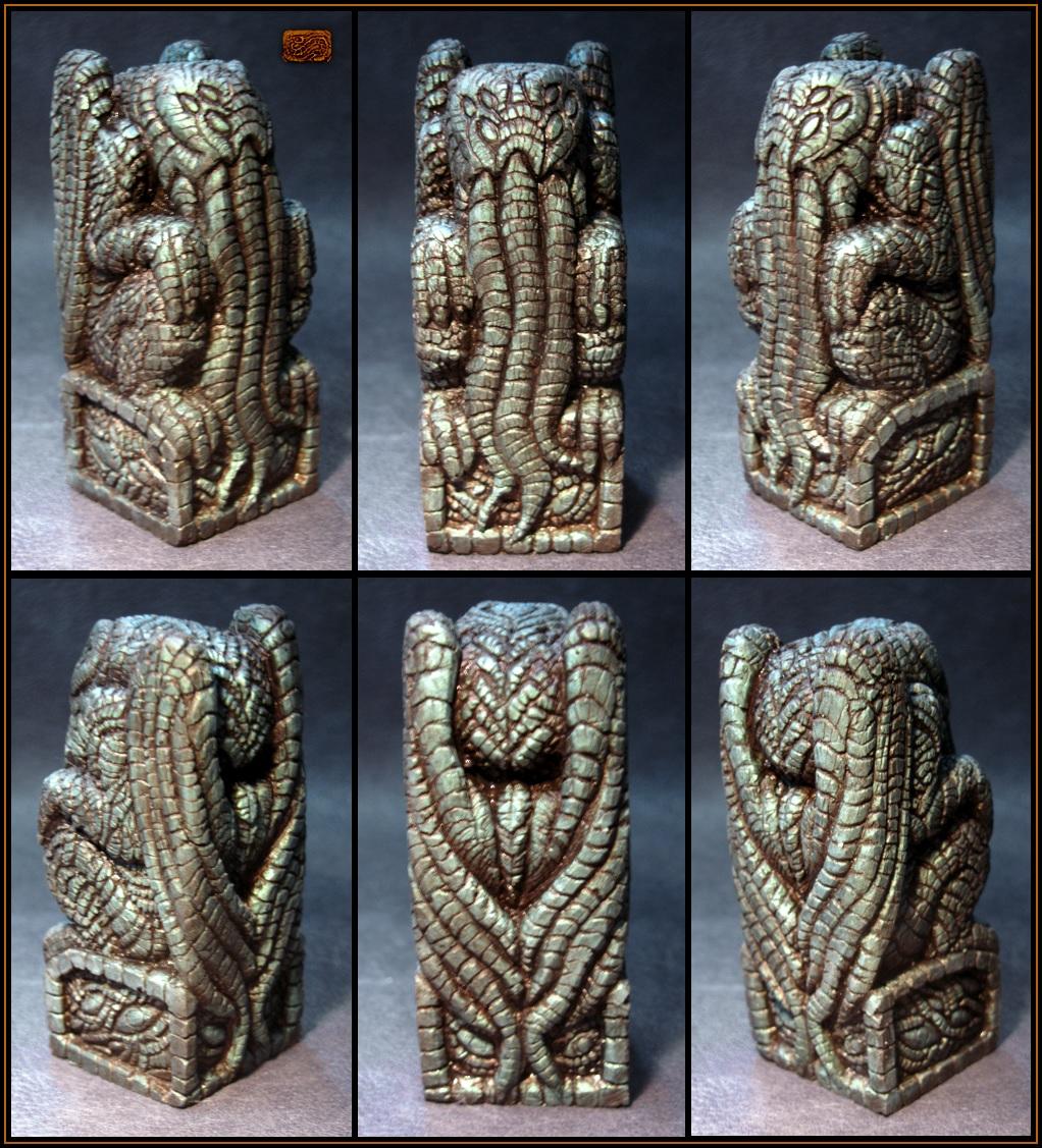 Ornate Metallic Cthulhu Idol