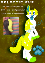 Galactic Pup Design + Tail for Sale