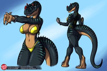 [ADOPTABLE Reminder] Ceratosaurus Girl