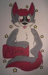 Bust con badge for Akira