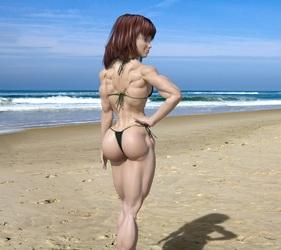 Candi on Beach 1