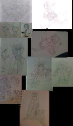 Buncha tumblr scribbles - Traditional