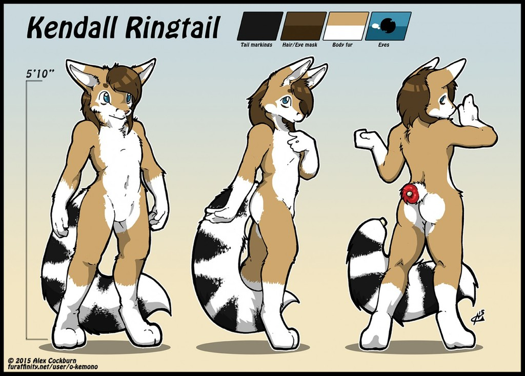 Kendall Ringtail Ref Sheet