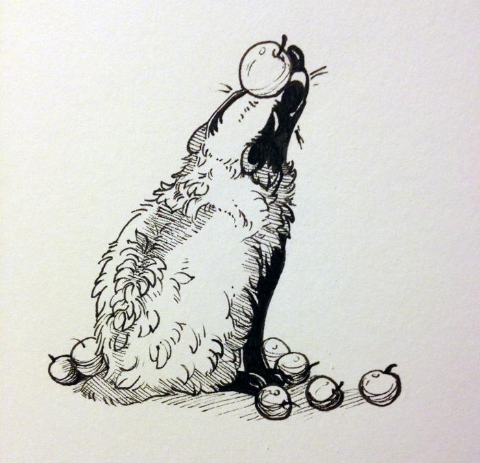 Inktober 5: Apples