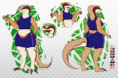 Desertic Lizard Ref Sheet, 2020 edition