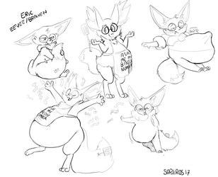 EricEevee/Braixen sketchpage by Saphiros