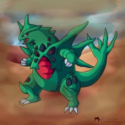 #248 - The Armor Pokemon - Tyranitar (Mega)