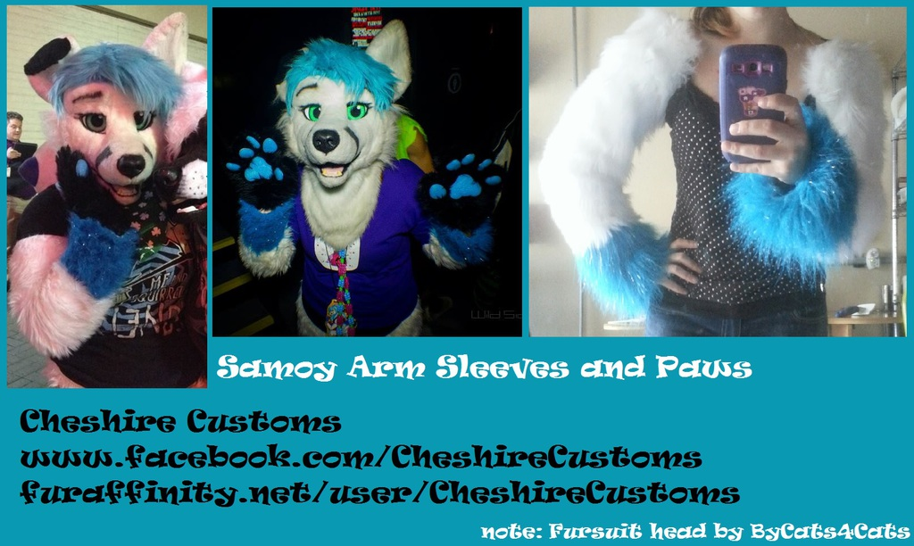 Samoy Armsleeves and Paws