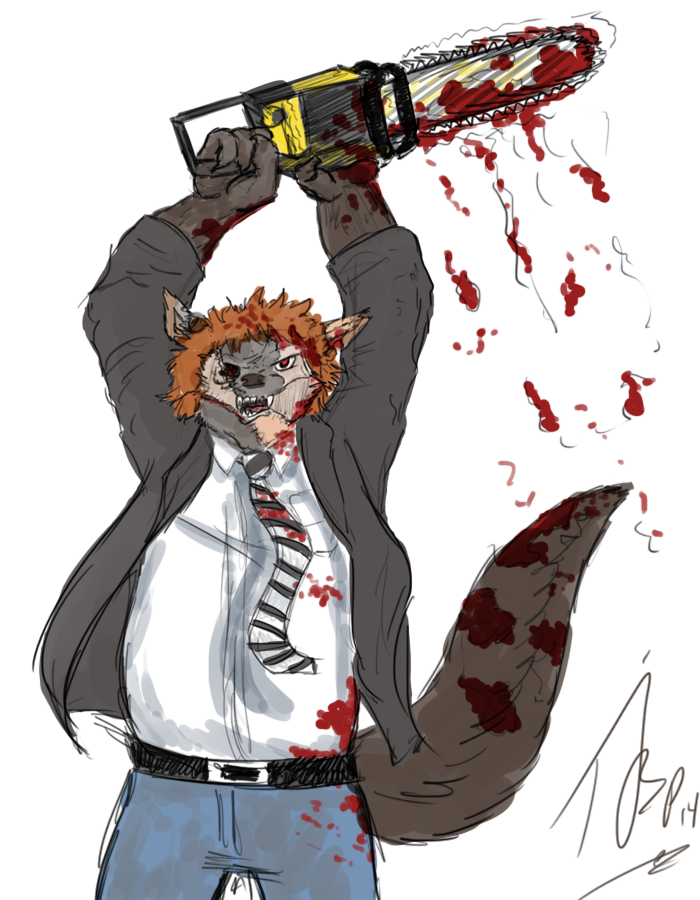Halloween Sketch - Dieselwulf As Leatherface