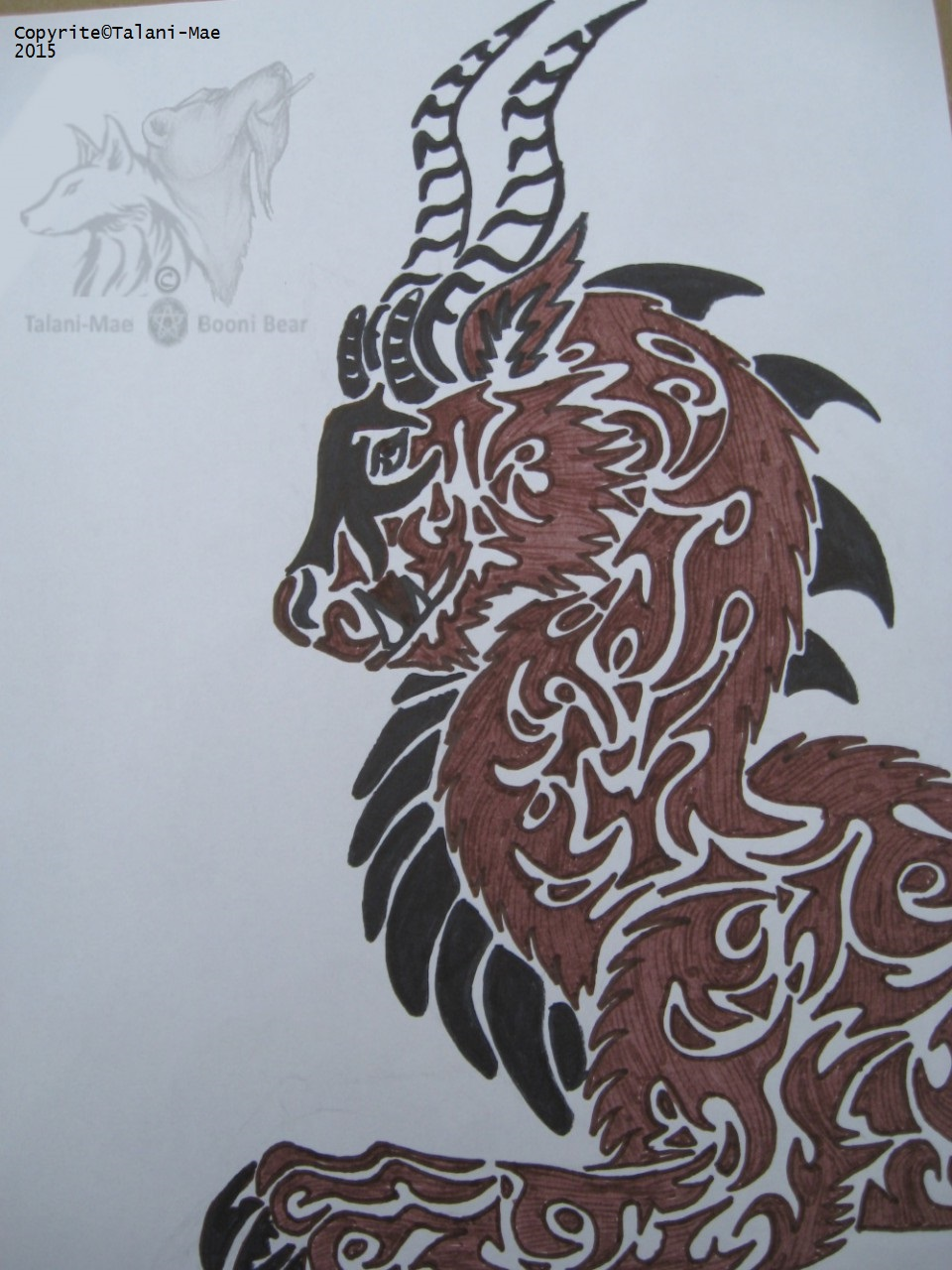 Tribal Creature Doodle