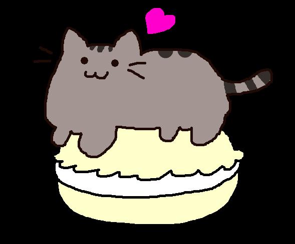 Pusheen with a Macaron