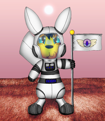 """""""One Small Step for a Pikachu"""" (PMD: Explorers of Mars Fic Cover Art)"""