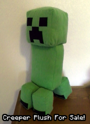 Creeper Plush for Sale! (LIMITED SUPPLY)