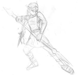 Amalthean Warrior Sketch