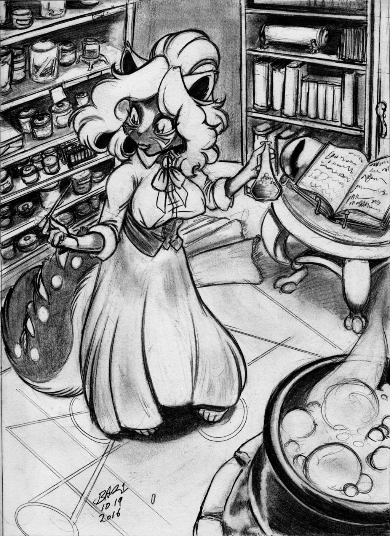 Witchcraft Wednesday (DRAWlloween) by Bar1Scorpio