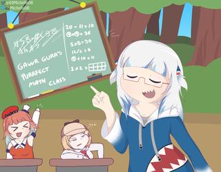 Gura's Perfect Math Class