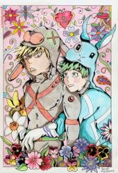 Katsuki and Izuku's Easter