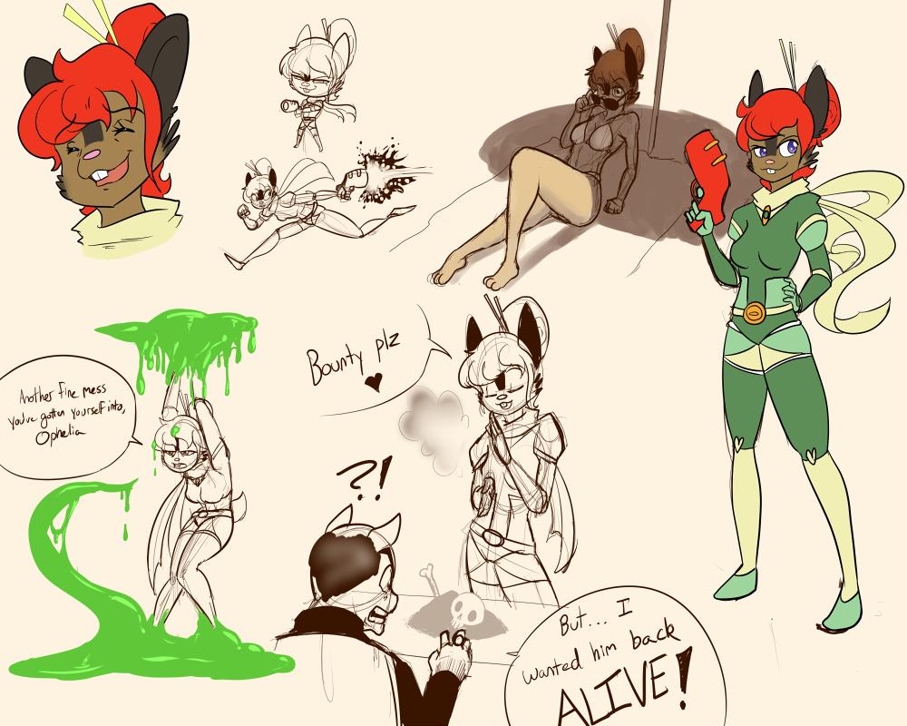 Ophelia, the Sugar Glider Bounty Hunter