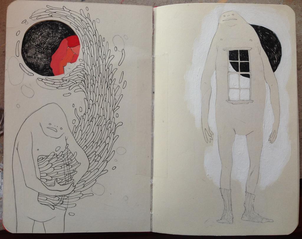 sketchbook- windows and guts
